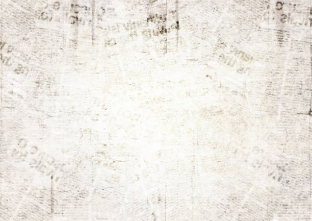 vintage grunge newspaper texture background - rough stock photos and pictures