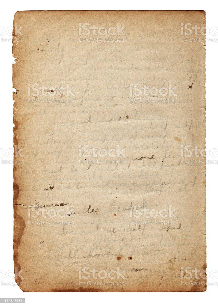 Vintage Grunge Paper w/ Handwriting XXXL stock photo