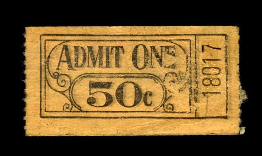 Vintage Grunge Ticket