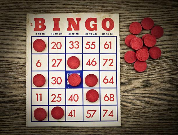 Vintage Grungy Bingo Card圖像檔