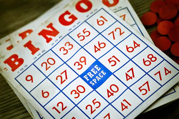 Vintage Grungy Bingo Cards圖像檔