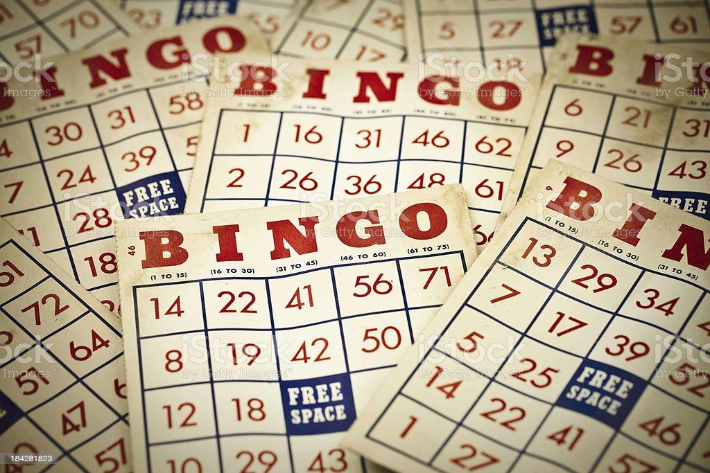 Vintage grunge Bingo cartões - foto de acervo