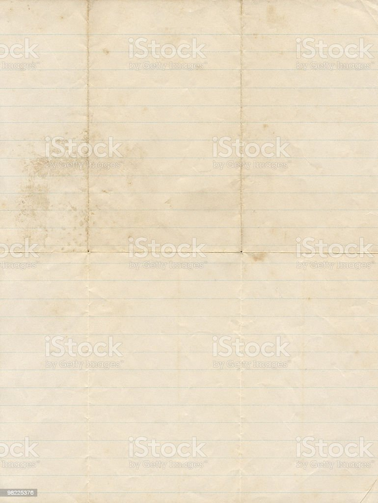 Vintage Grungy Notebook Paper XXL royalty-free stock photo