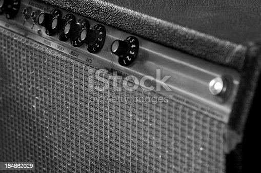 istock Vintage guitar amplifier 184862029