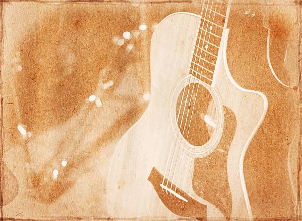 Vintage Guitar Paper XXL stock photo