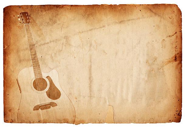 Vintage Guitar Paper XXXL stock photo