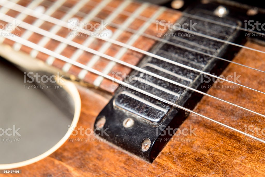 Vintage guitar royalty-free stock photo