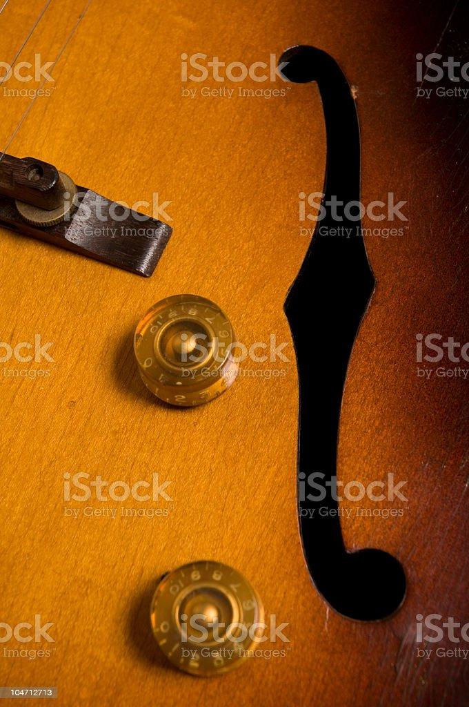 Vintage Guitar Volume Knob royalty-free stock photo