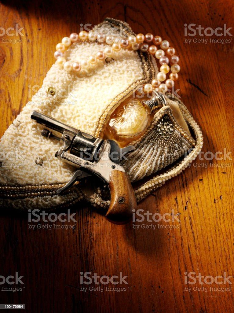 Vintage Gun Crime Theme stock photo