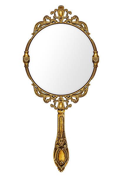 vintage hand mirror - handspiegel stockfoto's en -beelden