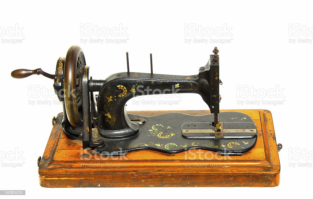 Vintage Hand Painted Sewing Machine royalty-free stock photo