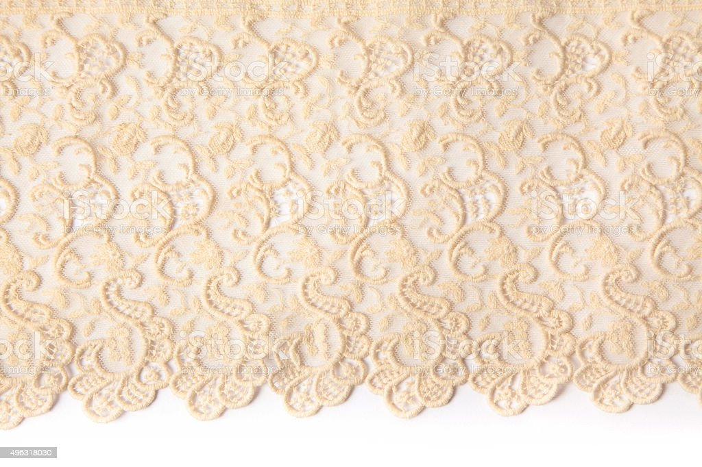 Vintage handmade lace stock photo