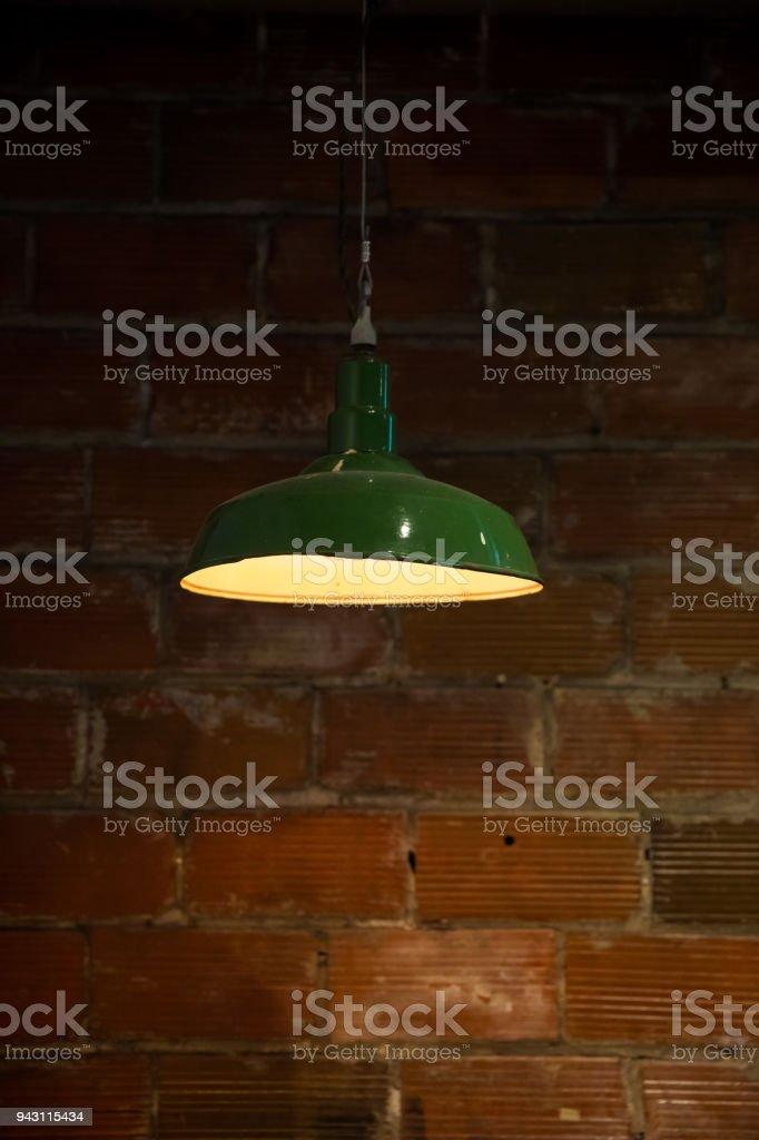Vintage Hanging Barn Light stock photo