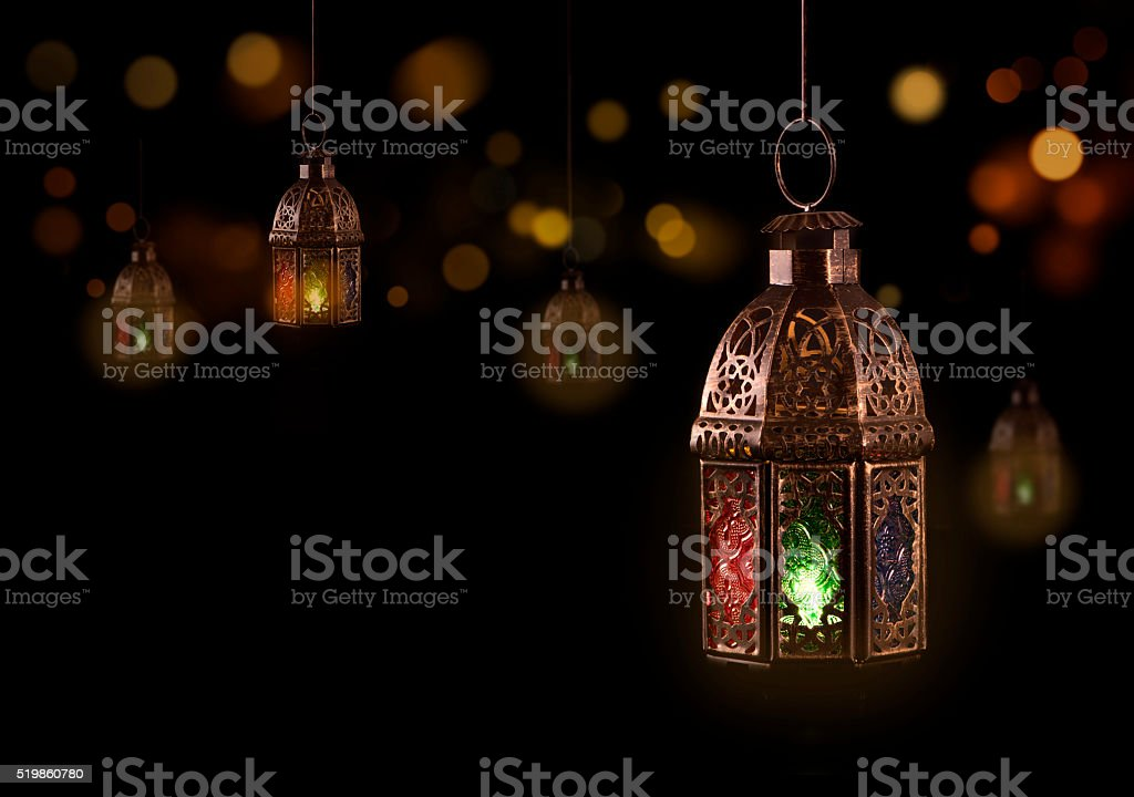 Vintage hanging lantern stock photo