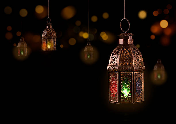 vintage hanging lantern - eid stock pictures, royalty-free photos & images