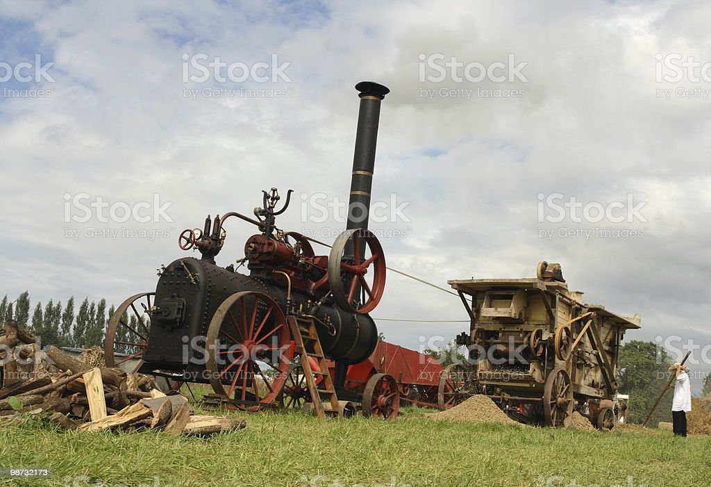 Vintage harvest scene royalty-free stock photo