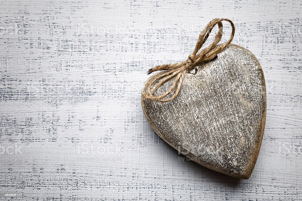 Vintage heart. royalty-free stock photo