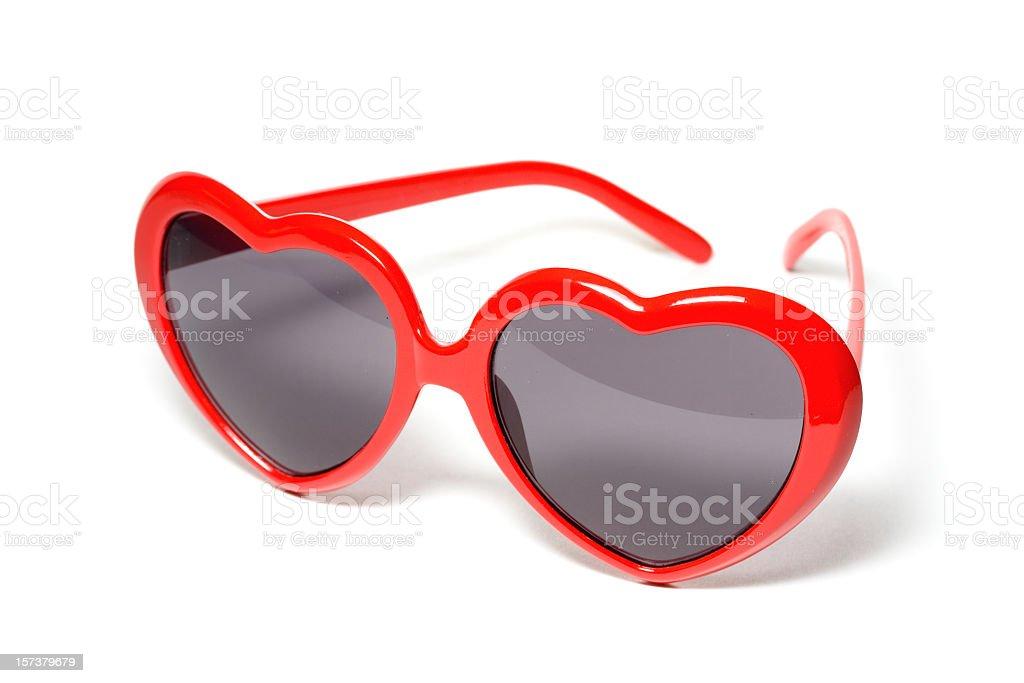 Vintage Heart Shaped Sunglasses stock photo
