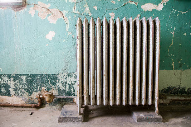 vintage heater stock photo