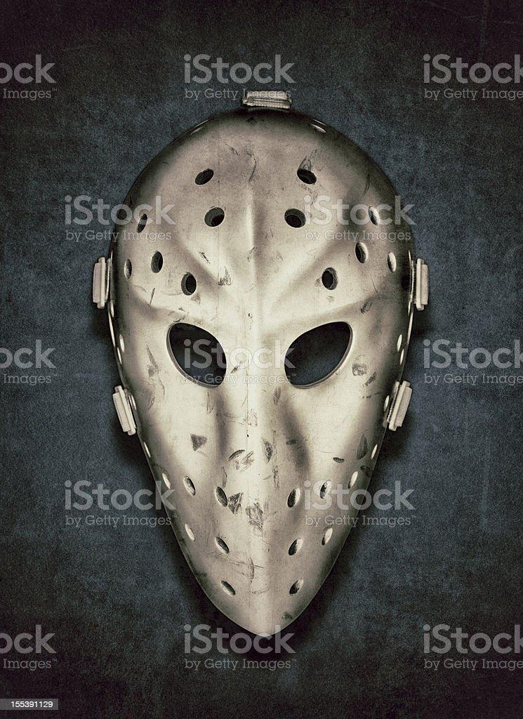 Vintage Hockey Goalie Mask stock photo