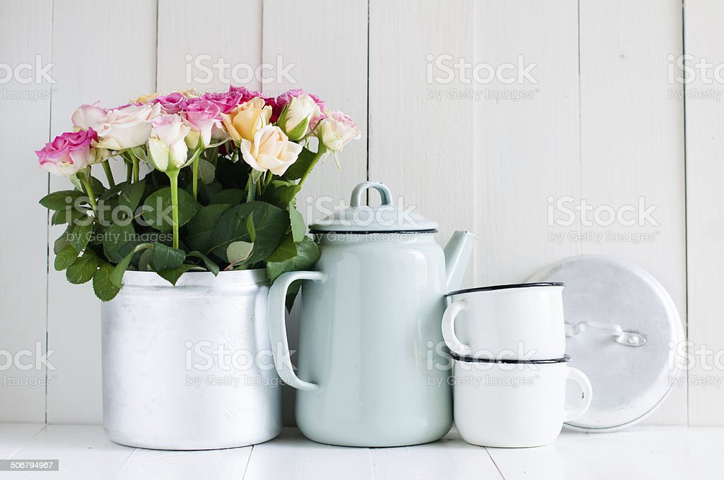 Vintage home arrangement stock photo