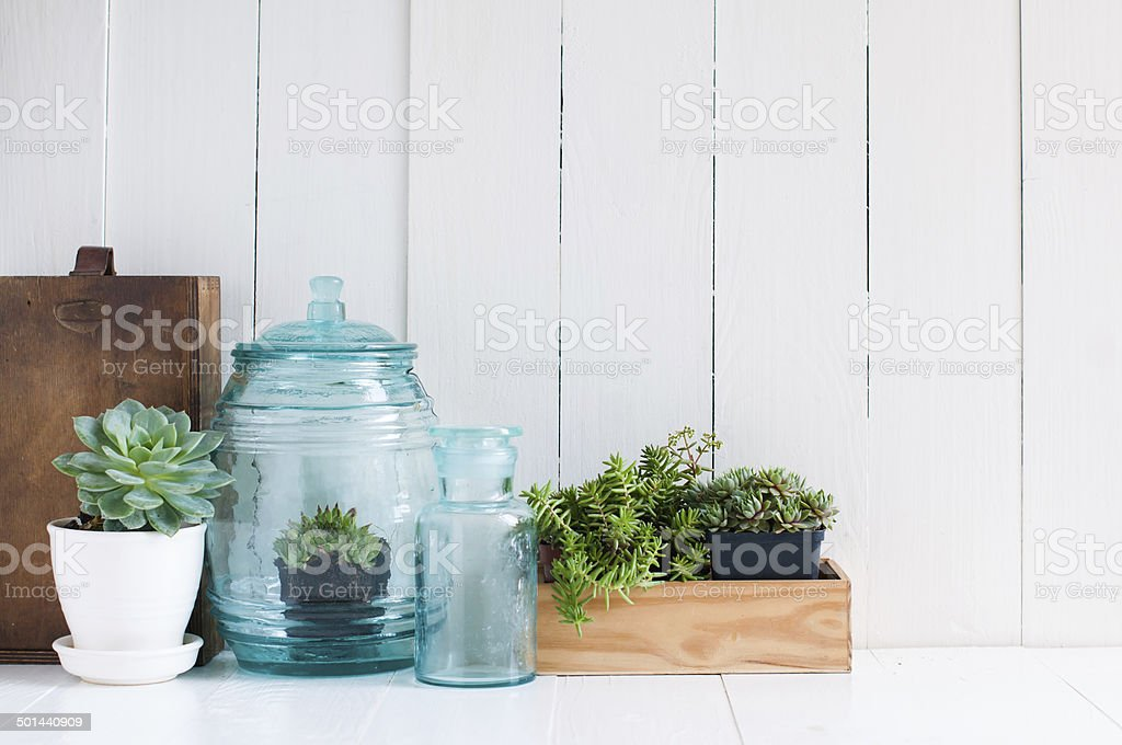 Vintage home decor stock photo