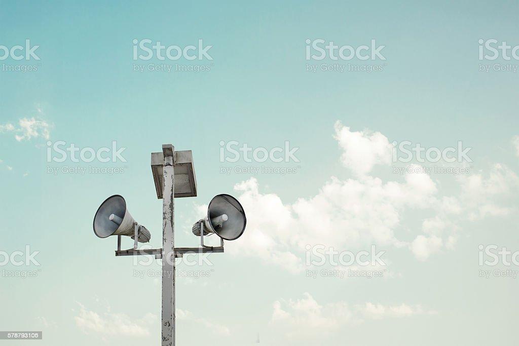 vintage horn speaker stock photo