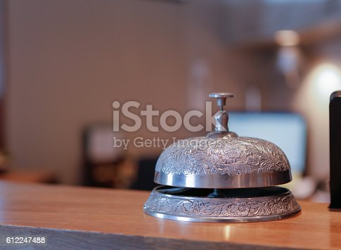 840883328 istock photo Vintage hotel bell 612247488