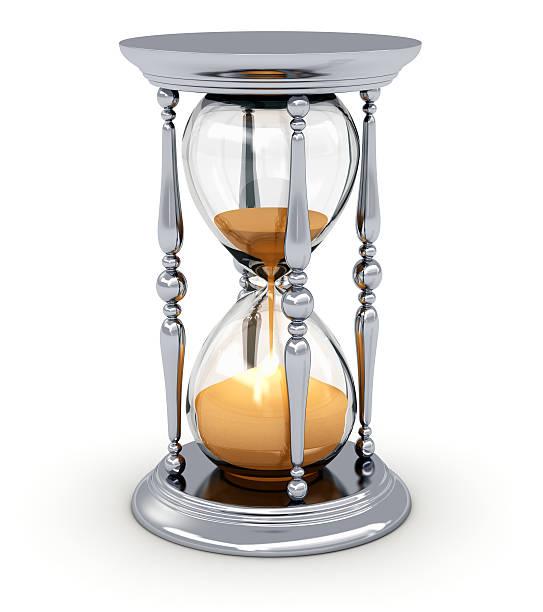 vintage hourglass - zandloper icoon stockfoto's en -beelden