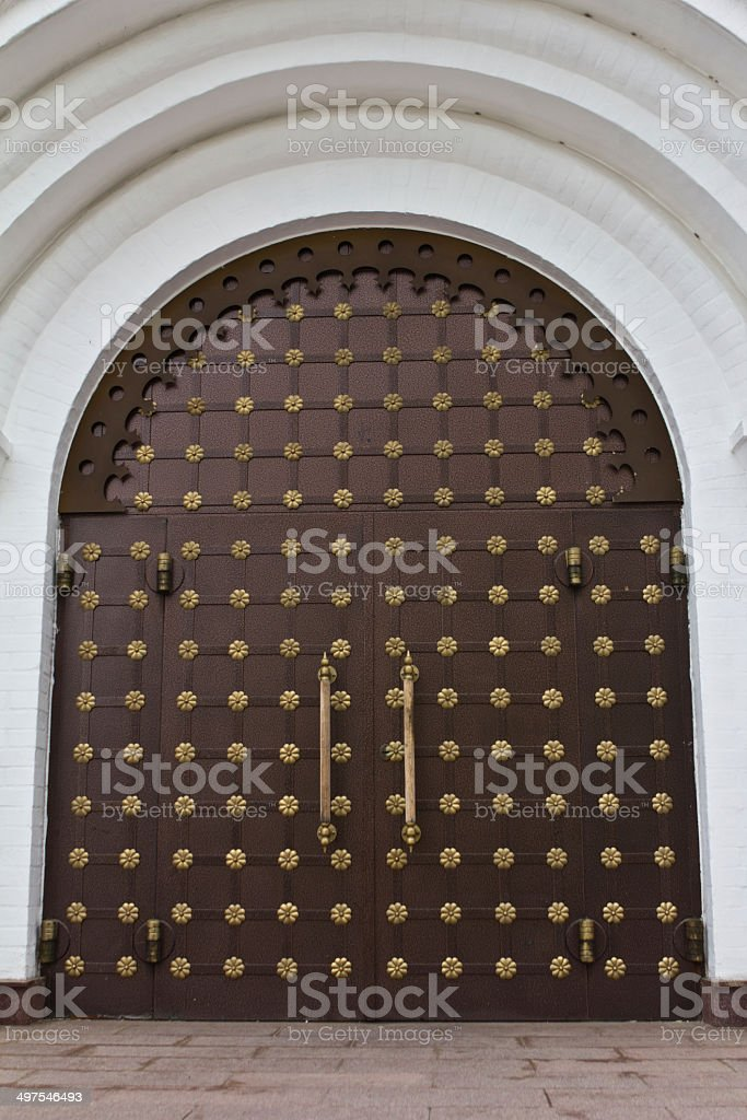 vintage house forged door detail royalty-free stock photo