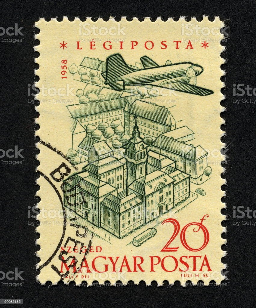 Vintage Hungarian Stamp, Ephemera. royalty-free stock photo