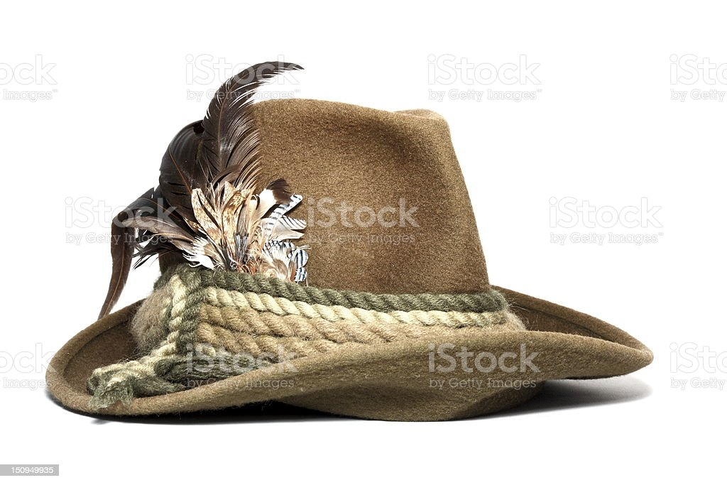 vintage hunting hat royalty-free stock photo