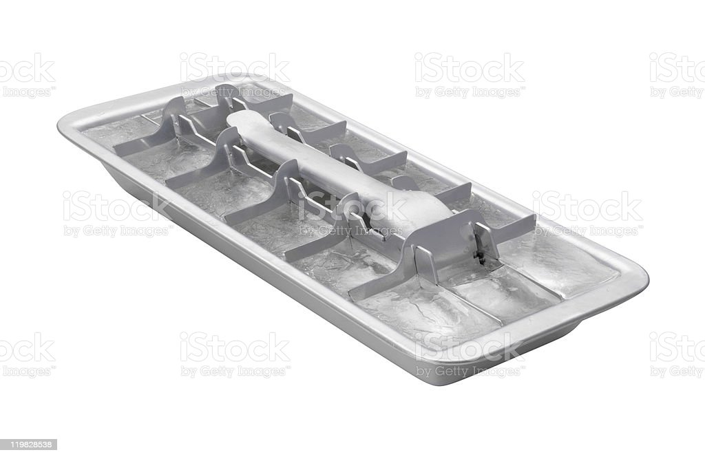 Vintage Ice Cube Tray (clipping path) stock photo