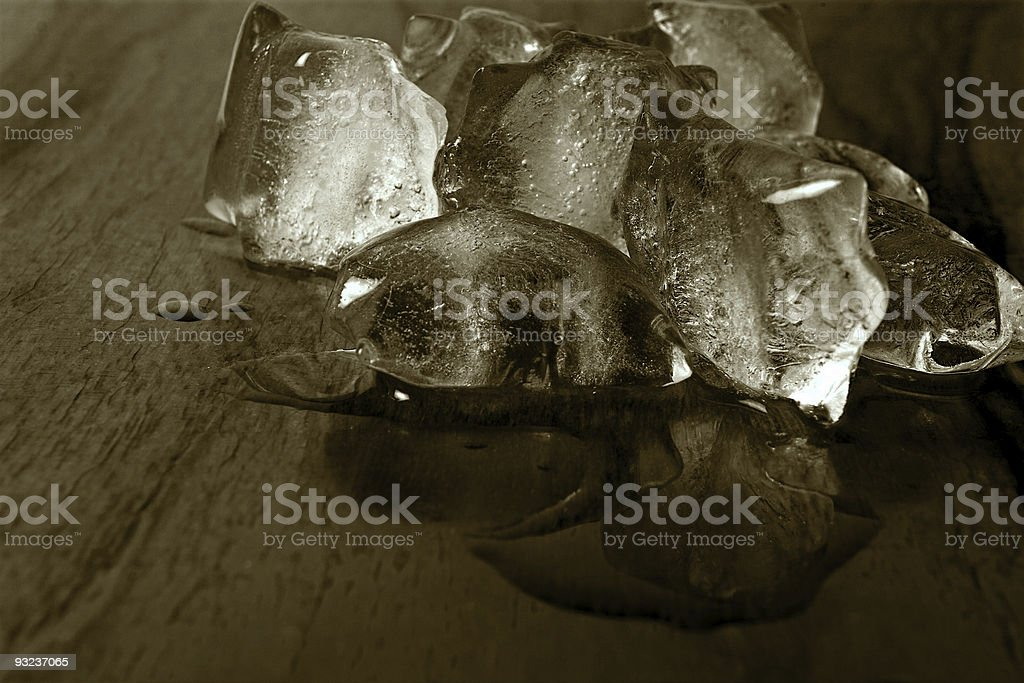 Vintage ice stock photo