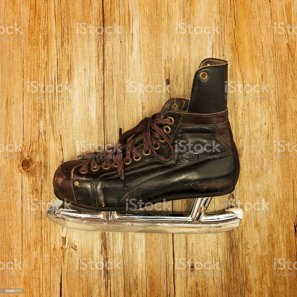 Vintage ice skate royalty-free stock photo