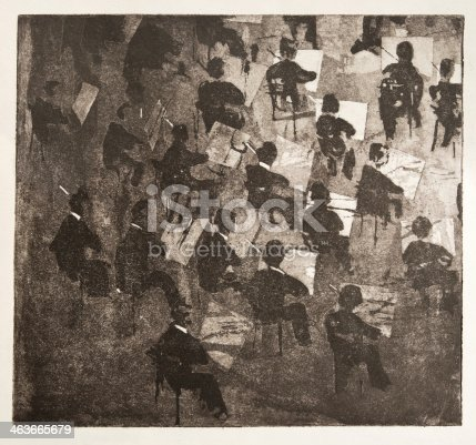 istock A vintage illustration of an orchestra 463665679
