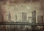 istock Vintage image of a bridge in New York City 145995544