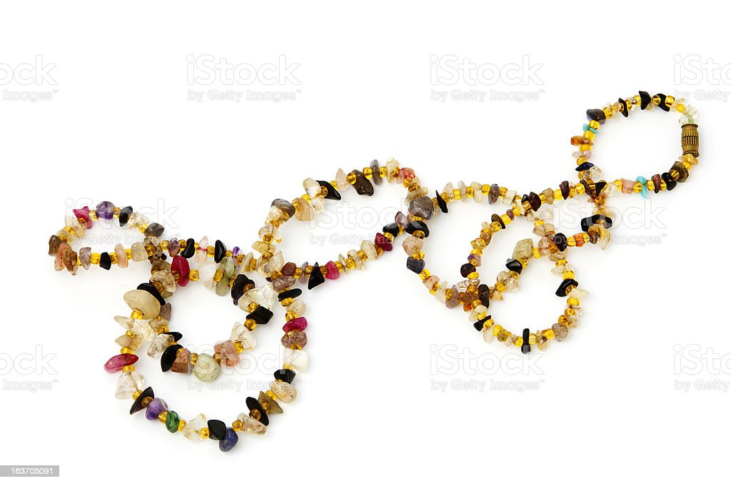 vintage Indian stones beads royalty-free stock photo