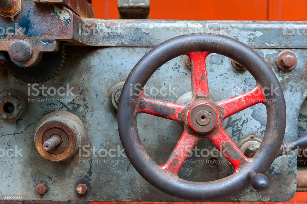 Vintage Industrial Machinery stock photo