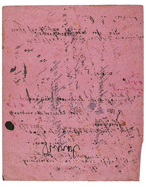 Vintage ink blotting paper Grungy blotting paper that shows old fragments of writings. blotting paper stock pictures, royalty-free photos & images