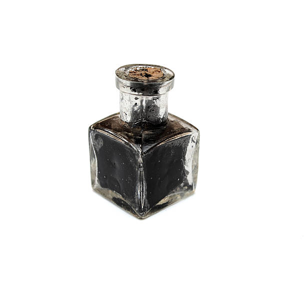 vintage inkwell - ink well stock photos and pictures