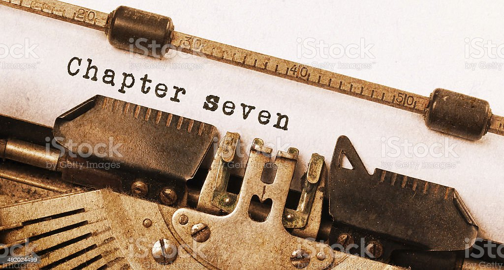 Vintage inscription made by old typewriter stock photo