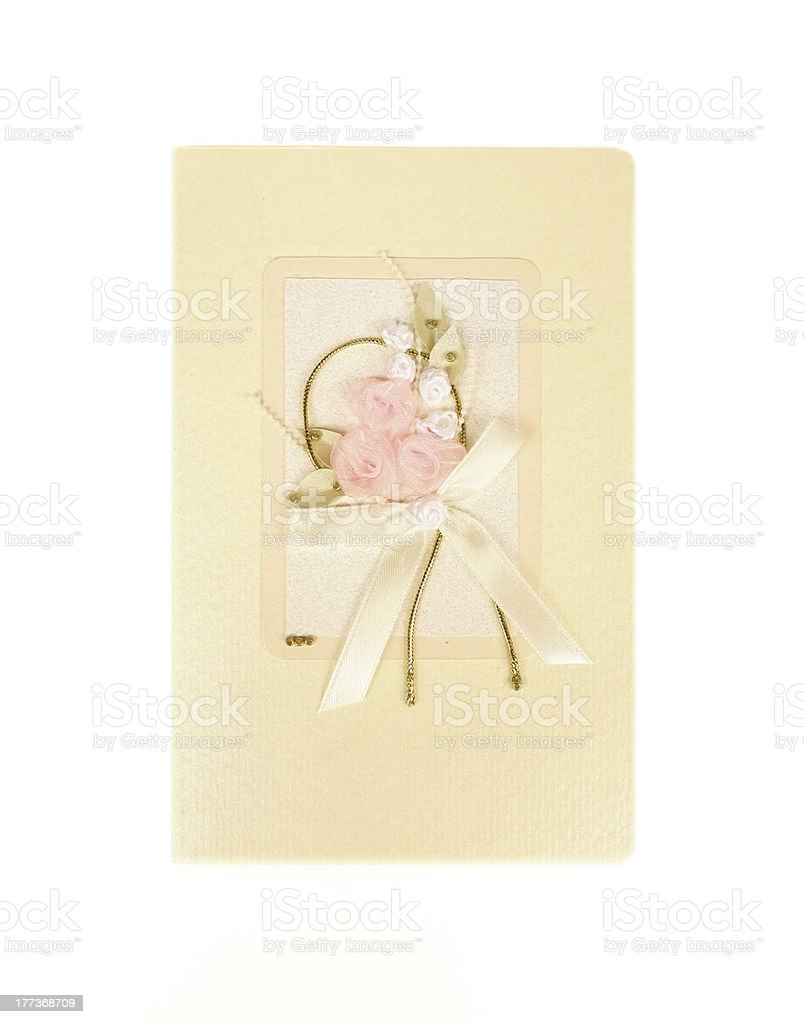 Vintage Invite or Gift Card royalty-free stock photo