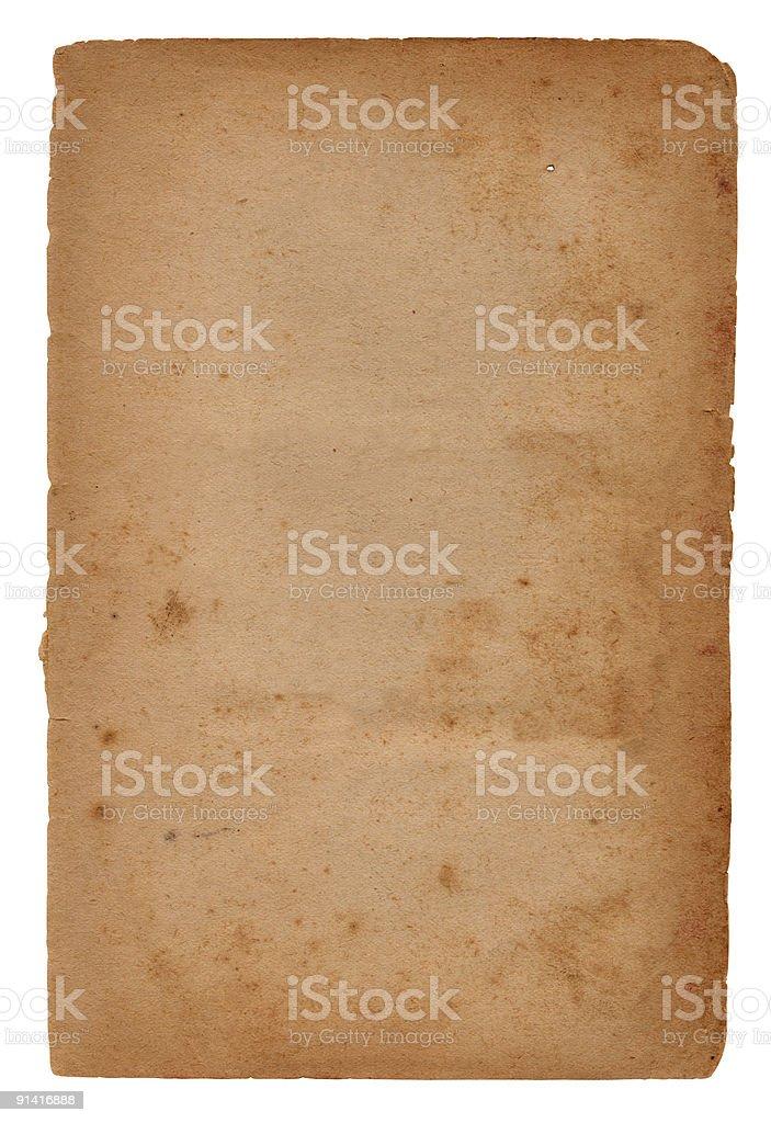 Vintage Isolated Paper XXL stock photo