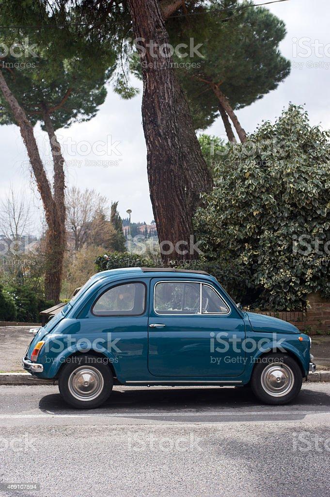 Vintage Italian car - Fiat 500 stock photo