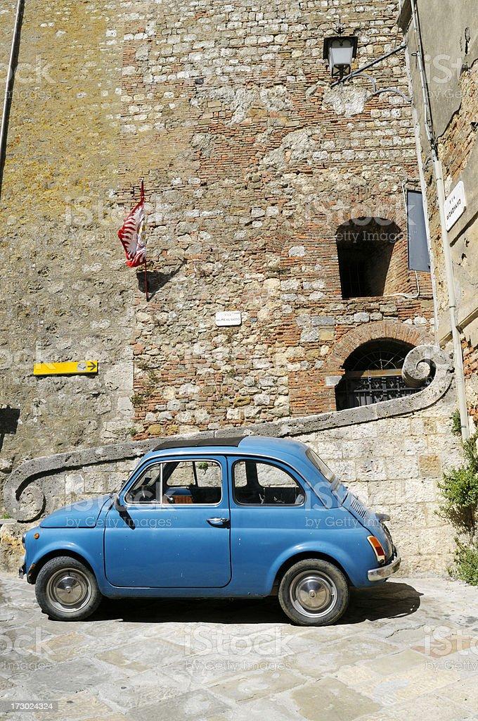 Vintage Italian Car Fiat 500 Urban Scene stock photo