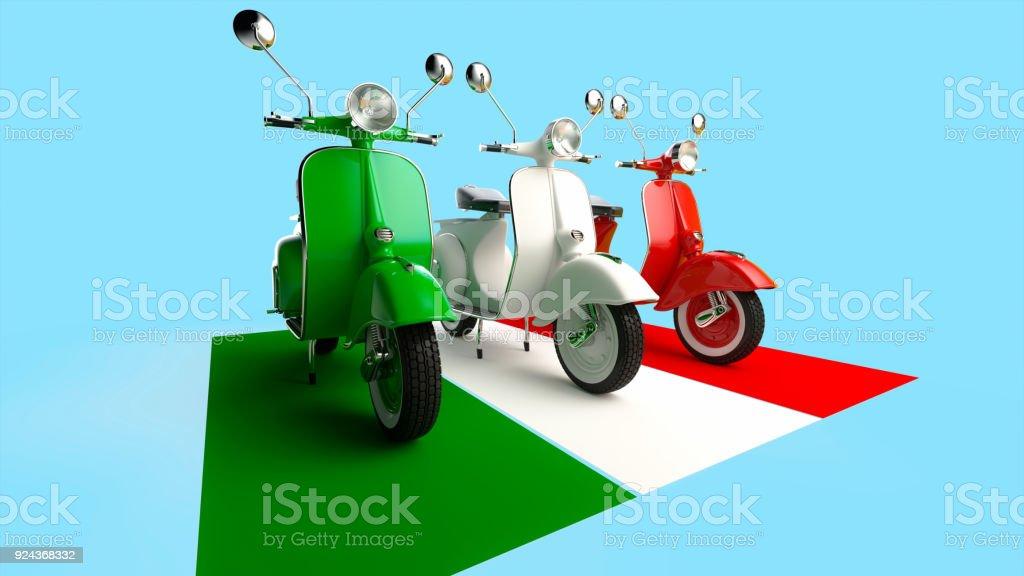 Vintage Italian scooters stock photo