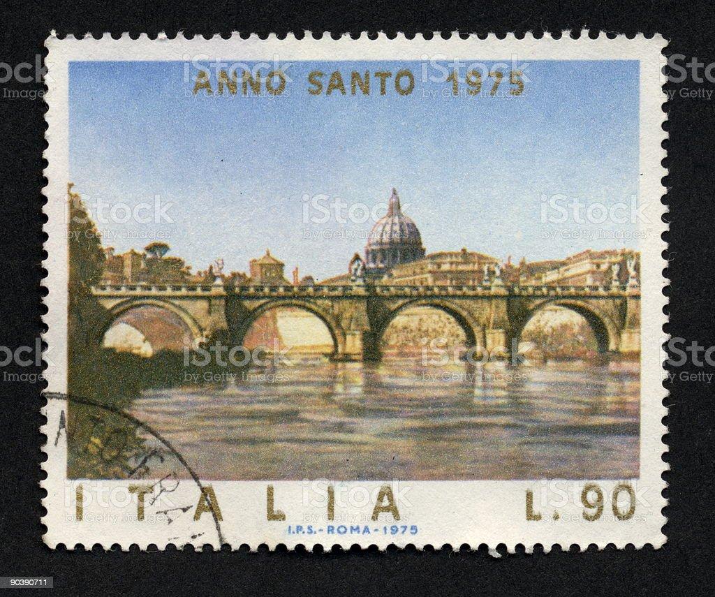 Vintage Italian Stamp 1975, Ephemera. stock photo