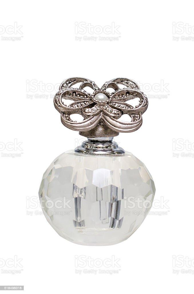 Vintage jar of perfume stock photo
