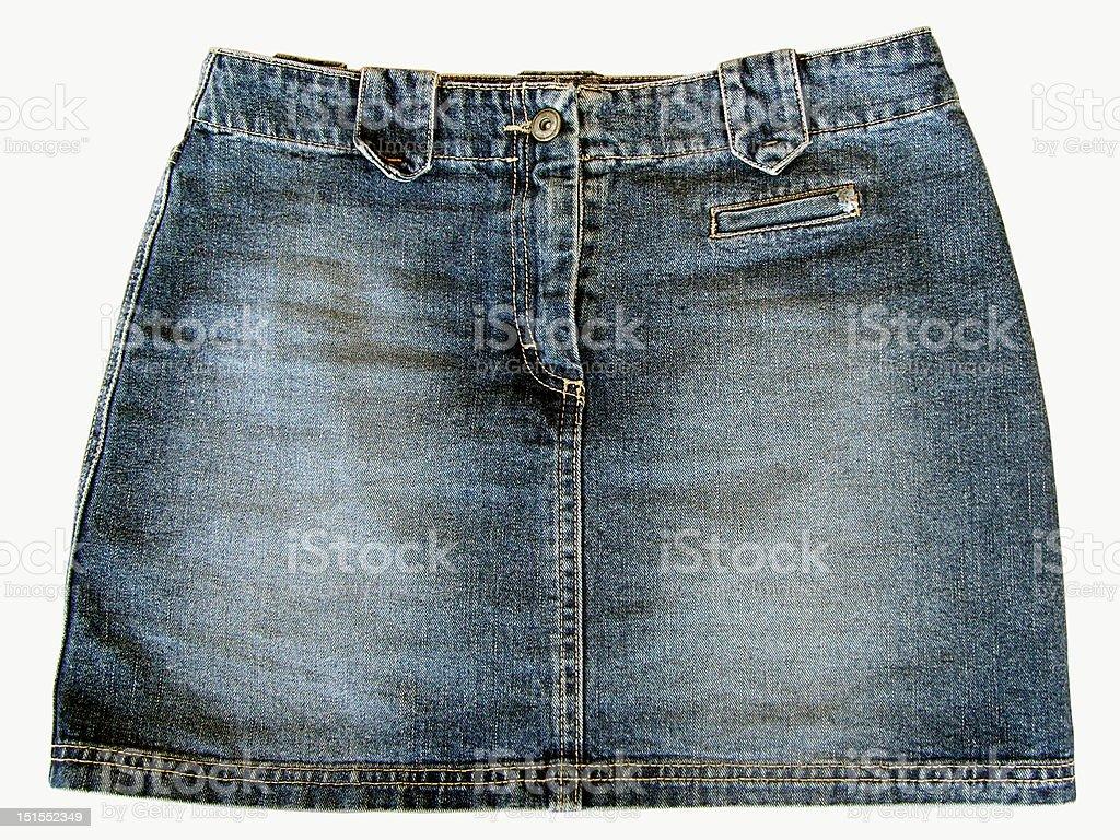 Vintage Jean Skirt stock photo